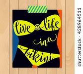 summer typography sticker  card ... | Shutterstock .eps vector #428964511