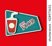 fast food offer design  | Shutterstock .eps vector #428973631