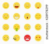 emoticons set  yellow website... | Shutterstock .eps vector #428978299