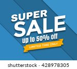super sale banner design vector ... | Shutterstock .eps vector #428978305