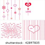 collection love cards | Shutterstock .eps vector #42897835