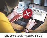 unsecured virus detected hack... | Shutterstock . vector #428978605