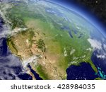 usa with surrounding region as... | Shutterstock . vector #428984035