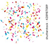 colorful confetti isolated on... | Shutterstock .eps vector #428987089