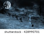 Graveyard On A Supermoon Lit...