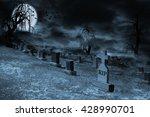 Graveyard On A Supermoon Lit...