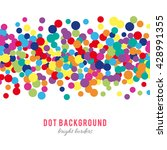 colorful abstract dot... | Shutterstock .eps vector #428991355