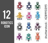 robotics technology system icon ...