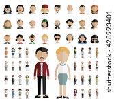 diversity community people flat ... | Shutterstock .eps vector #428993401