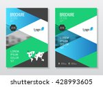 abstract business brochure... | Shutterstock .eps vector #428993605
