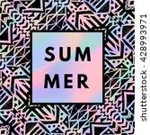summer hipster boho chic... | Shutterstock .eps vector #428993971