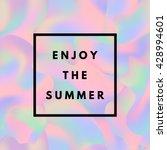 summer hipster boho chic... | Shutterstock .eps vector #428994601