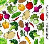 seamless pattern of fresh... | Shutterstock .eps vector #428996947