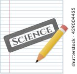 science emblem draw with pencil ... | Shutterstock .eps vector #429004435