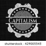 capitalism written with... | Shutterstock .eps vector #429005545