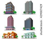 buildings   Shutterstock .eps vector #429007429
