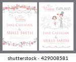 vintage wedding invitation... | Shutterstock .eps vector #429008581