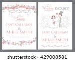 vintage wedding invitation...   Shutterstock .eps vector #429008581