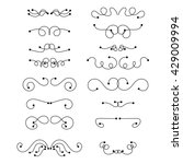abstract curly design element... | Shutterstock .eps vector #429009994