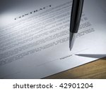 close up of a pen about to sign ... | Shutterstock . vector #42901204