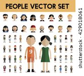 diversity community people flat ... | Shutterstock .eps vector #429018061