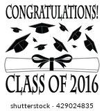 congratulations class of 2016... | Shutterstock . vector #429024835