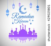 illustration of ramadan kareem... | Shutterstock .eps vector #429025801