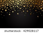 Vector background with gold stars