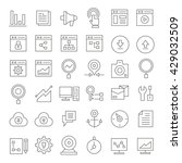 seo and web development icons... | Shutterstock .eps vector #429032509