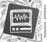 doodle ecg | Shutterstock .eps vector #429033211