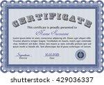 certificate template eps10 jpg... | Shutterstock .eps vector #429036337