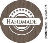 handmade vintage wood emblem | Shutterstock .eps vector #429036775