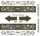 vector arrow sign icon set  | Shutterstock .eps vector #429038011