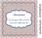 formal invitation. with complex ... | Shutterstock .eps vector #429038524