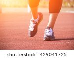 closeup of a runner feet... | Shutterstock . vector #429041725