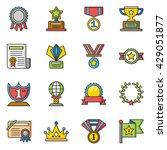 icon set award vector | Shutterstock .eps vector #429051877