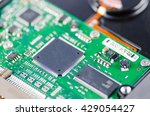 electronic circuit board with... | Shutterstock . vector #429054427