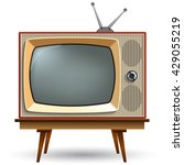 vintage tv with stand on a... | Shutterstock .eps vector #429055219