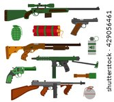Weapons Vector Guns Collection...