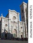 The Basilica di Santa Maria del Fiore, Florence, Italy - stock photo