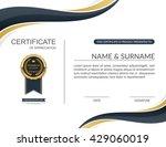 vector certificate template. | Shutterstock .eps vector #429060019
