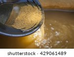 close up of gold panning pan... | Shutterstock . vector #429061489