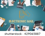 electronic mail technology...   Shutterstock . vector #429065887
