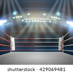 boxing ring with illumination... | Shutterstock . vector #429069481
