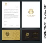 luxury logo and corporate... | Shutterstock .eps vector #429069589