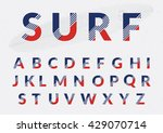 typographic alphabet design set ... | Shutterstock .eps vector #429070714