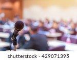 microphone in meeting room for... | Shutterstock . vector #429071395