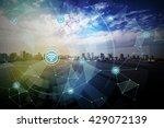 smart city and wireless... | Shutterstock . vector #429072139