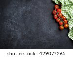 ripe cherry tomatoes over stone ...   Shutterstock . vector #429072265