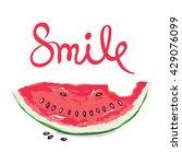 a fun summer smile  vector... | Shutterstock .eps vector #429076099